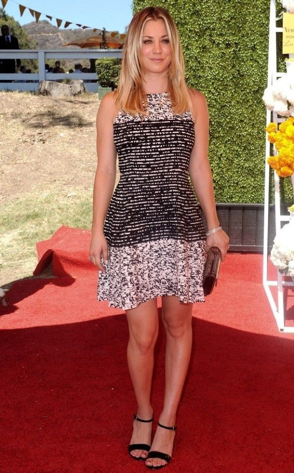 Fabulously Spotted: Kaley Cuoco Wearing Parker – 2013 Veuve Clicquot Polo Classic - http://www.becauseiamfabulous.com/2013/10/kaley-cuoco-wearing-parker-2013-veuve-clicquot-polo-classic/