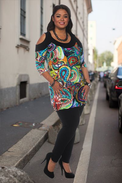 Twister kleding in grote maten op FashionINconflict http://www.fashioninconflict.nl/twister-tunic-shelly-paisley