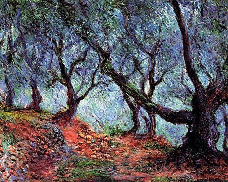 Claude Monet. Grove of Olive Trees in Bordighera (1884).