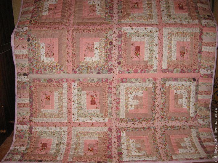 """Купить Комплект для спальни """"Розовые грезы"""". Пэчворк. - пэчворк, розовый, лоскутное шитье, лоскутное одеяло"""