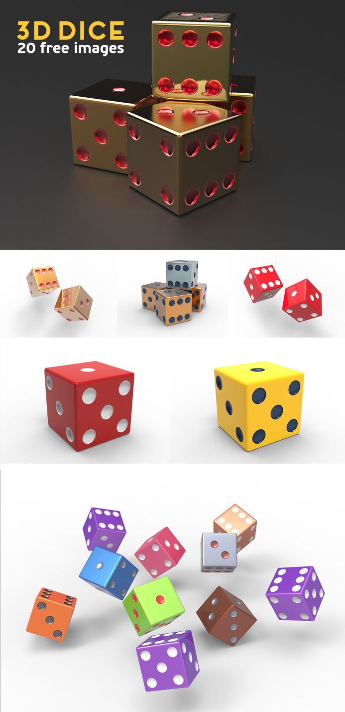 free 3D Dice | Pixaroma | We extract aroma from pixels.