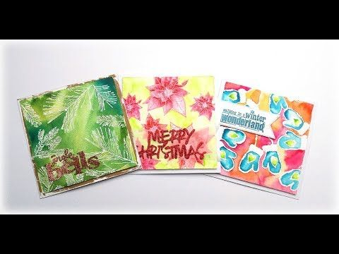 Quick Christmas Cards with Embossing and Watercolors