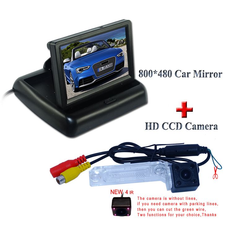"Suitable for Volkswagen PASSAT B5/Jetta/Touran/Caddy car back up camera 170 degree +car rear  monitor4.3"" lcd"