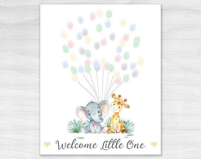 PERSONALISED Baby Shower Game Alternative Traditional Guestbook GIRAFFE Boy,Girl