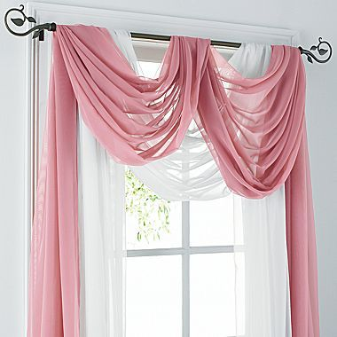 25 best ideas about scarf valance on pinterest window - Jcpenney bathroom window curtains ...