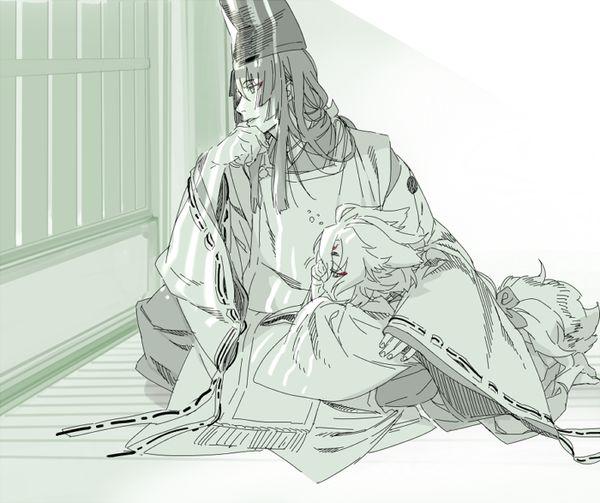 「小狐見てご覧 あんなに参拝者が」 石切丸 刀剣乱舞
