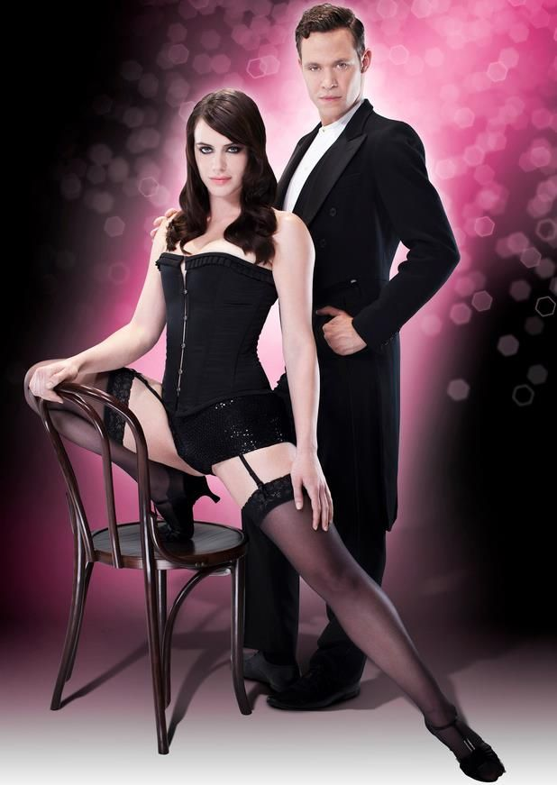 Raine & Bea created steel boned corset & hotpants worn by Michelle Ryan in the West End Musical of Cabaret.