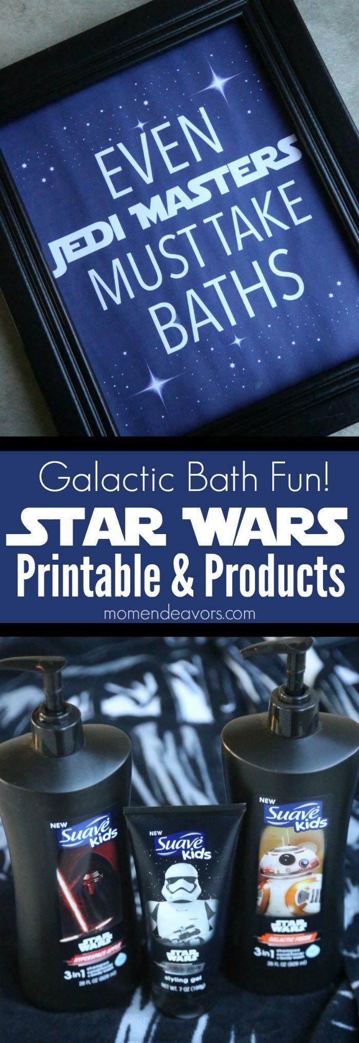 Star Wars Bath Time Fun for Kids - Star Wars bath products and free Star Wars-inspired bath printable.