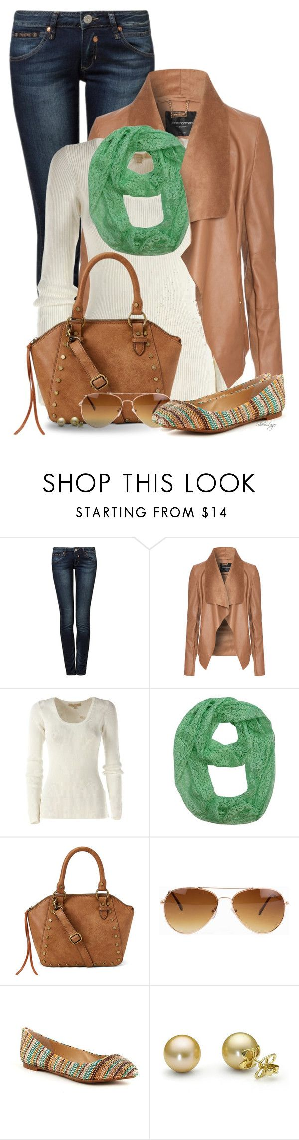 """""""Untitled #2783"""" by sherri-leger ❤ liked on Polyvore featuring Herrlicher, Jane Norman, Michael Kors, T-shirt & Jeans, Rut&Circle and Enzo Angiolini"""