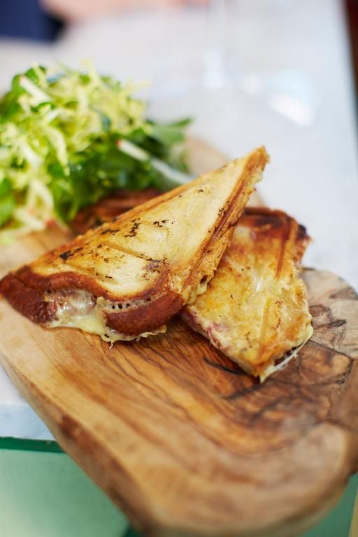 Anglo-French cheese and ham toastie/jaffle by Jamie Oliver