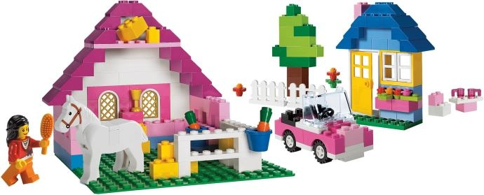 """5560 Large Pink Brick Box  This is as """"girl"""" as Lego needs to be!"""