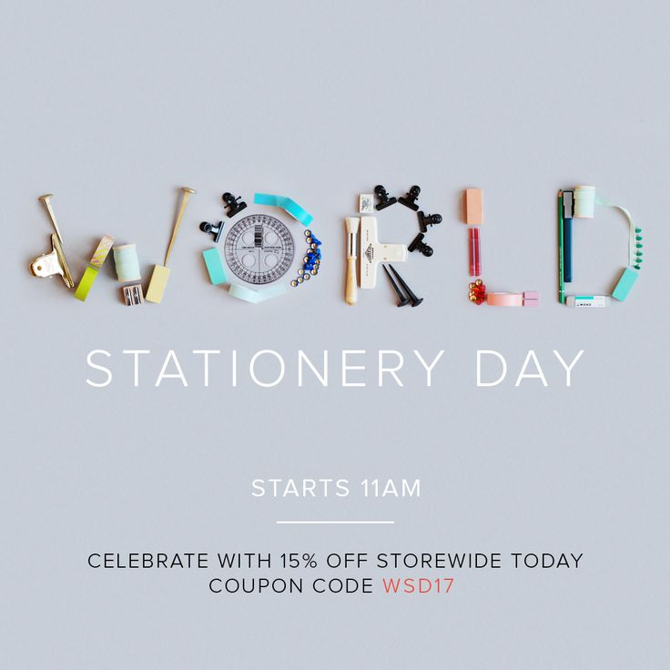 It's one of our favourite days of the year!! Enjoy 15% off our entire site with coupon code: WSD17. Offer ends 11am, Thurs 27 April, AEST. Enjoy!!