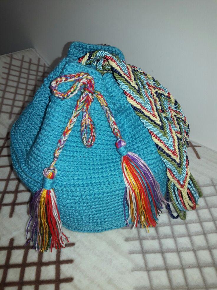Çanta bag wayuu knitting mavi çanta