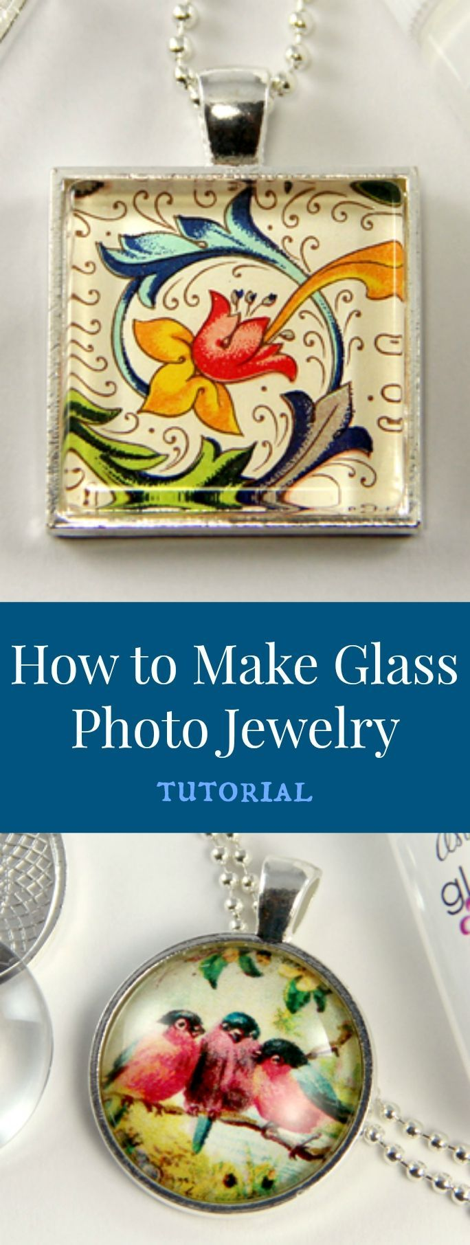 Love this tutorial to make your own glass photo jewelry.                                                                                                                                                                                 More