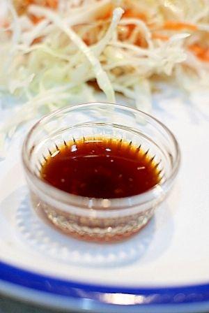 「柚子こしょうドレッシング」柚子胡椒があればあとはどこのご家庭にでもある調味料と混ぜるだけ。ピリ辛ドレッシングです。【楽天レシピ】