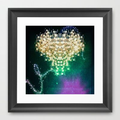 space heart Framed Art Print