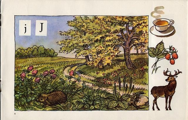 Živá abeceda/The Living Alphabet    The pre ABC book. Prague 1963. Illustrated by Antonín Pospíšil.