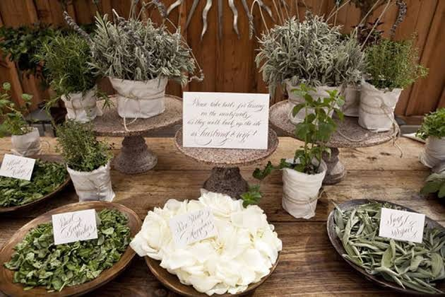herbs for ceremony tossing