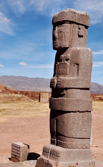 Bolivia:  The city of Tiwanaku, capital of a powerful pre-Hispanic empire that dominated a large area of the southern Andes and beyond, reached its apogee between 500 and 900 AD.