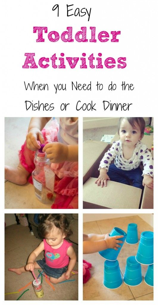 10 Easy Activities for Toddlers (that take little to no set up).