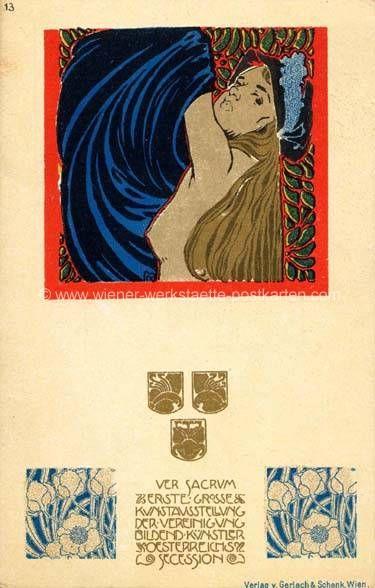 Litho Ver Sacrum # 13 Kolo Moser 1898