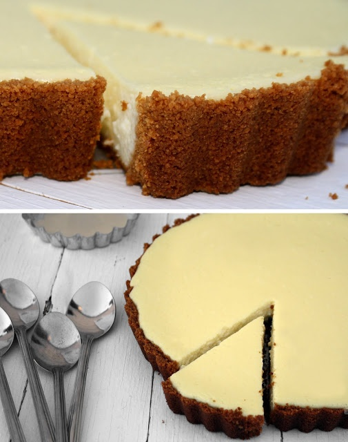 Lemon Ricotta Cheesecake Tart ~ by Delicious Shots