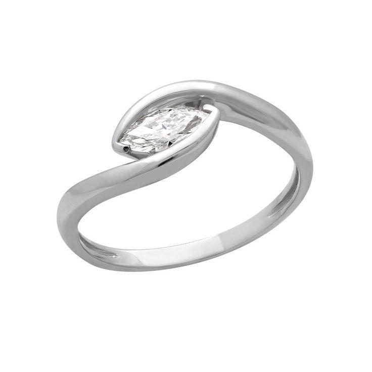 Коллекция «Je T'aime»   Кольцо из золота с бриллиантом маркиз