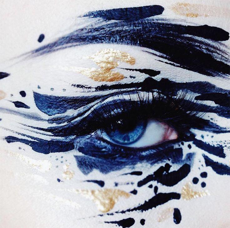 Une sélection desmaquillages créatifs de l'artiste et maquilleuse professionnelle finlandaise Ida Ekman, basée à Londres, qui imagine ses créations comme