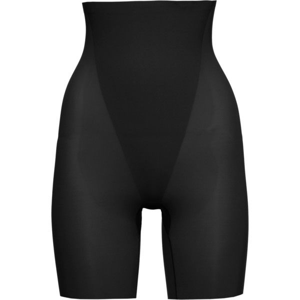 SPANX Trust Your Thinstincts High-Waisted Mid-Thigh Black // Shaping Shorts featuring polyvore, women's fashion, clothing, intimates and shapewear