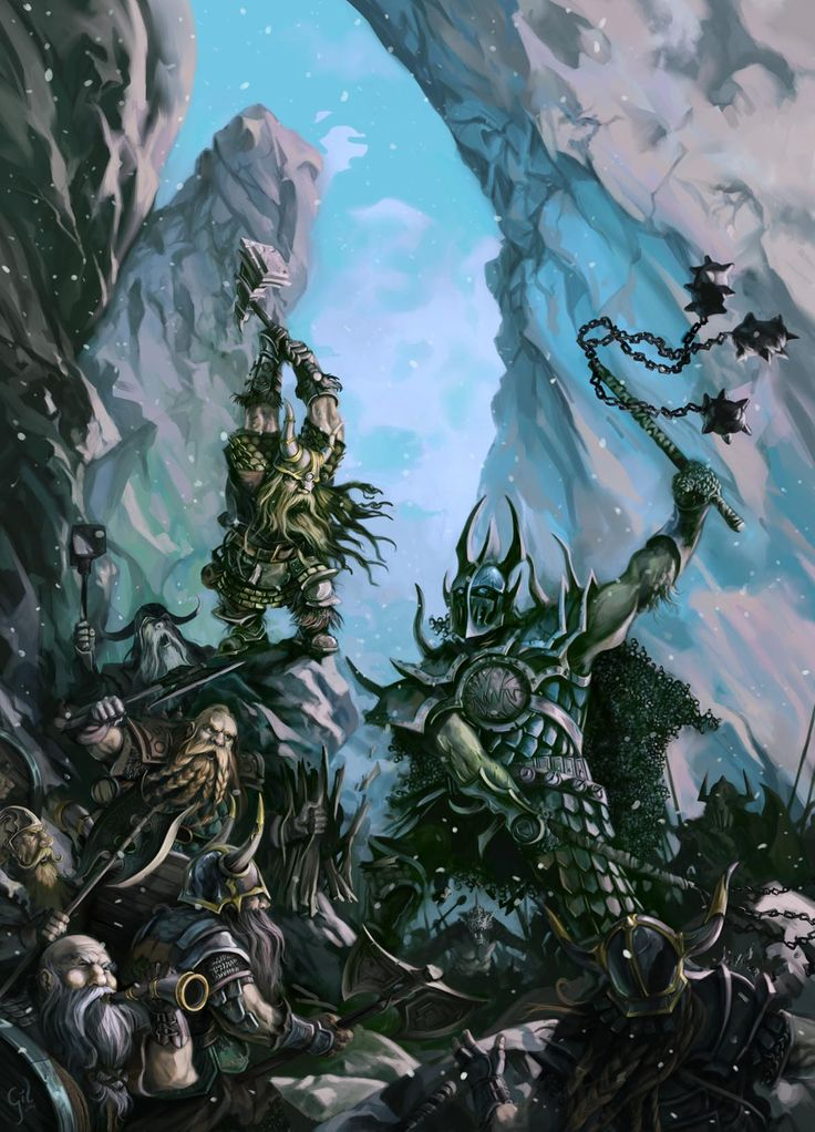 IVAN GIL Cover Art for Megalith Games (GODSLAYER miniature game) 2012.