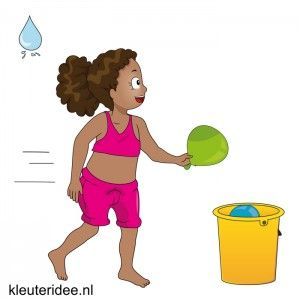 Waterspelletjes voor kleuters, kleuteridee, spel 5,waterballonestafette