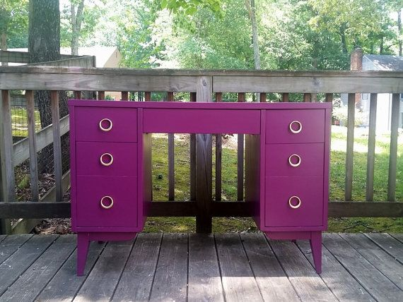 Plum Purple Desk by Love & Vintage. Click for more info. $260.