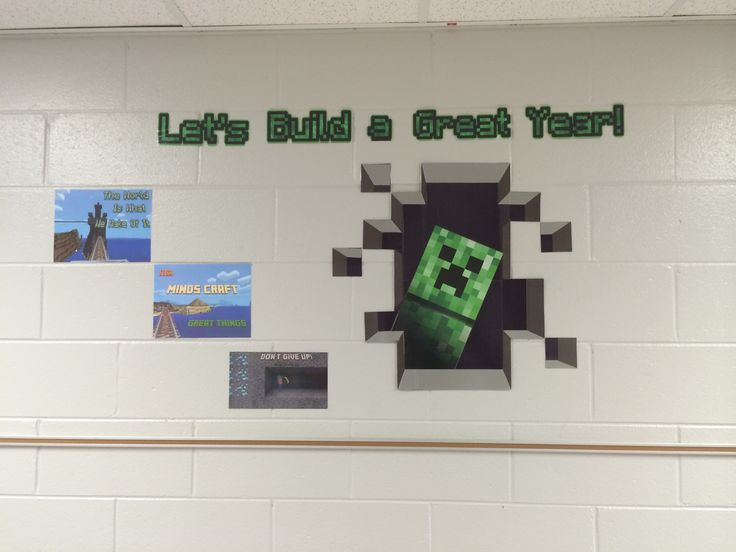 My own Minecraft bulletin board. Needs more cowbell.