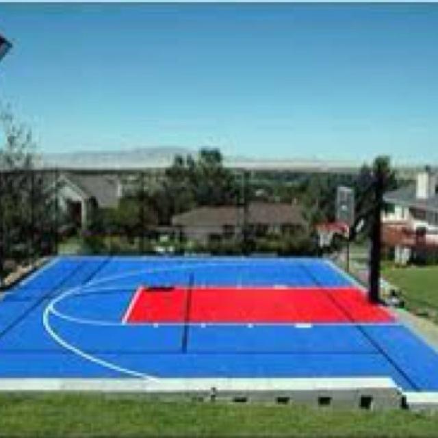 17 best backyard sport courts images on pinterest for Sport court ideas