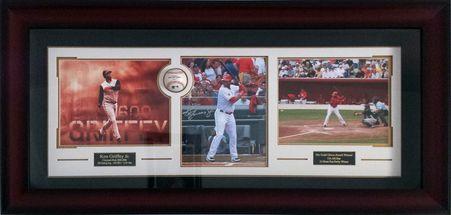 Ken Griffey Jr Autographed Cincinnati Reds Photo Framed