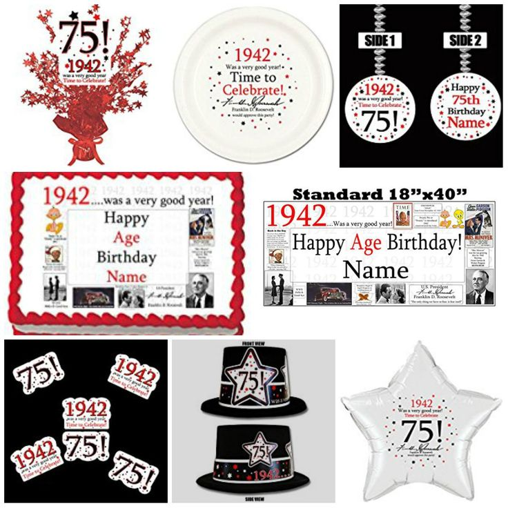17 best ideas about 75th birthday parties on pinterest for 75th birthday decoration