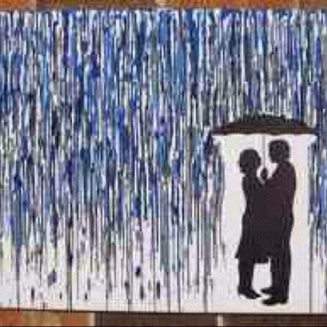 """Rainy Day"" dripped crayon art"