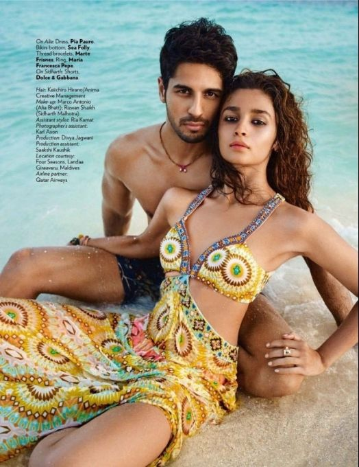 Alia Bhatt - Sidharth Malhotra in photoshoot for Vogue magazine, March 2016 issue. #Bollywood #Fashion #Style #Beauty #Sexy