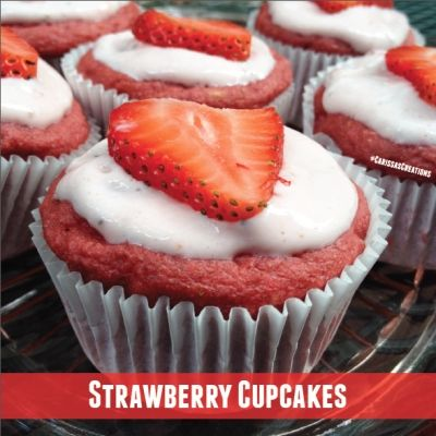 Ripped Recipes - Strawberry Cupcakes - Strawberry cupcakes that are low in fat and free of refined sugars and flour. What's not to love?? These are a perfect summertime treat.