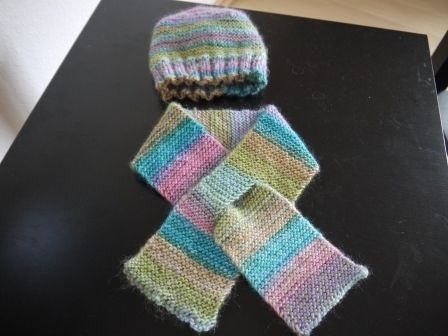Mütze und Schal mit Schlitz - nadelspiel   Handarbeiten   Pinterest ...