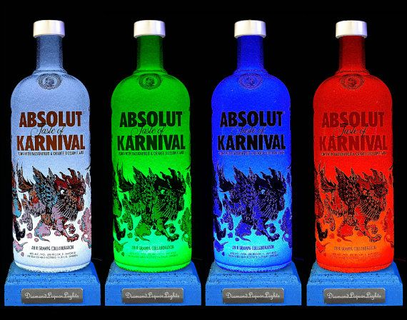 Upcycled Absolut Karnival Bottle Lamp With by DiamondLiquorLights