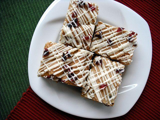 Cranberry Pistachio Blondies by adashofsass, via Flickr