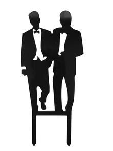 Unik Occasions Homosexual Gay Acrylic Wedding Cake Topper