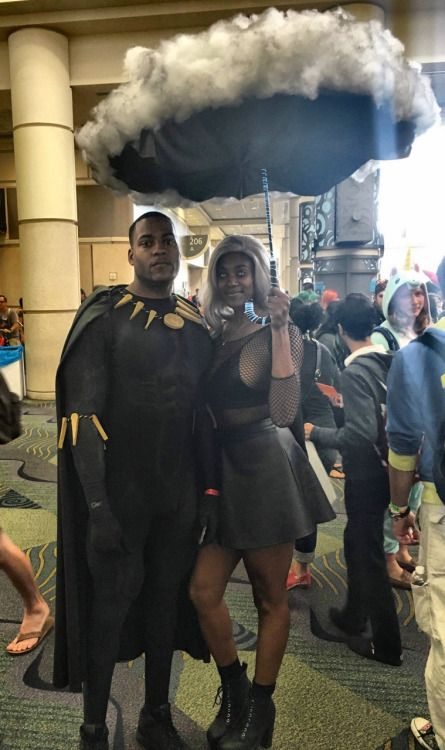 "theblackpearlofbraavos: "" Just saw T'Challa and Storm Cosplay couple  "" regal"