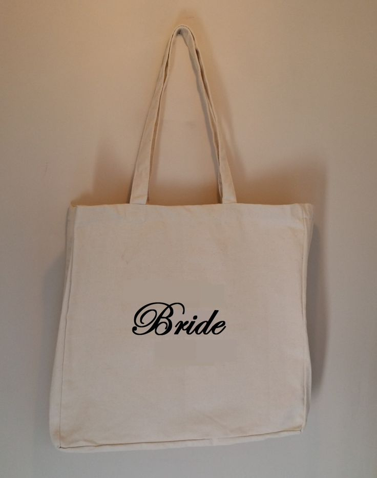 Wedding or Hen Doo Natural Canvas Bag With Custom text embroidery, large tote bag, market bag, hen weekend, bridal, for bride - Made By MAP by MadeByMAP on Etsy