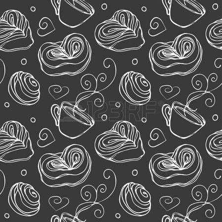 Doodle vector. Cookie and tea seamless pattern. Line vintage icons,sweet elements background formenu,cafe shop. Flat hand drawn vintage collection. Backdrop,fabric,wallpaper