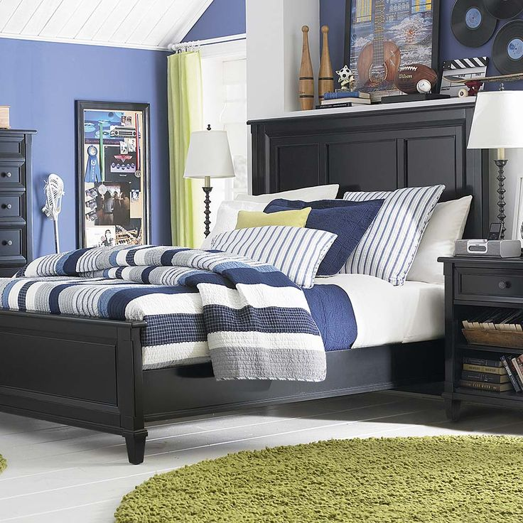 Chatham Panel Bed in an Antique Black finish at D Noblin Furniture This  Queen panel bed can be used as a headboard only  This bed is available in  both  14 best Beds images on Pinterest   Bedroom furniture  3 4 beds and  . Teenager Boy Bedroom Furniture. Home Design Ideas