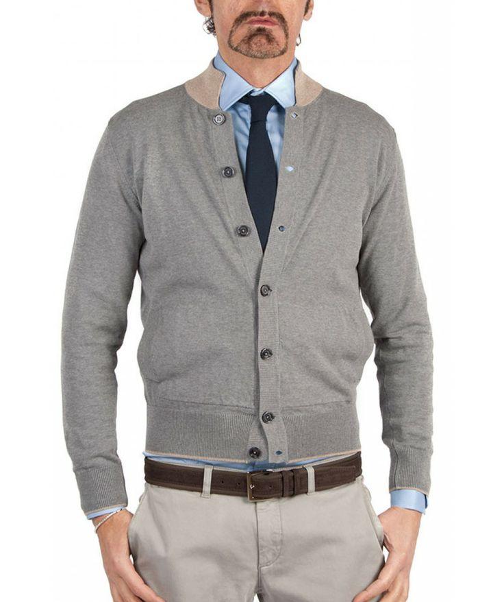 Groppetti Luxury Store Cardigan con Bottoni - Eleventy Spring Summer Collection 2014 #eleventy #men #man #fashion
