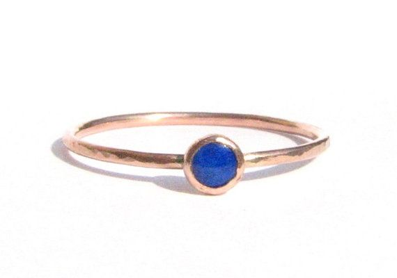 I love lapis and gold! :) Lapis & Solid Rose Gold Ring  Lapis Gold Ring  by Ringsland  Need size 5.5-6 for right ring finger?
