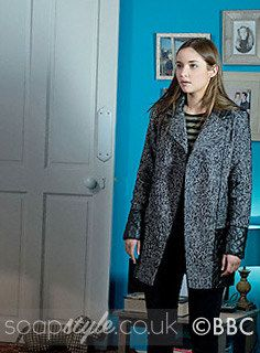 Lauren Branning and Primark Grey & Black Tweed Coat